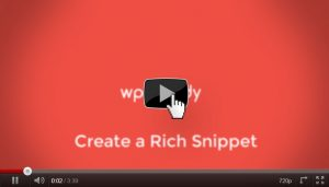 How to add a Rich Snippets video