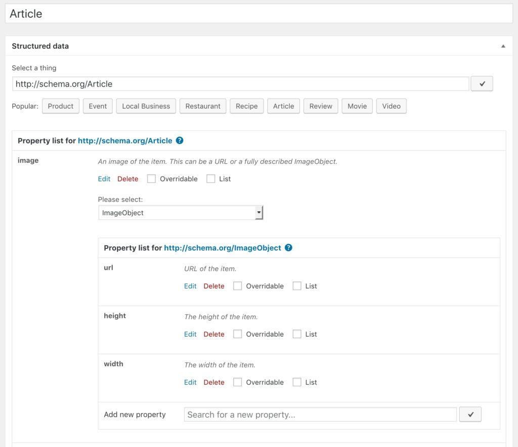 Rich Snippets Generator in version 2.6