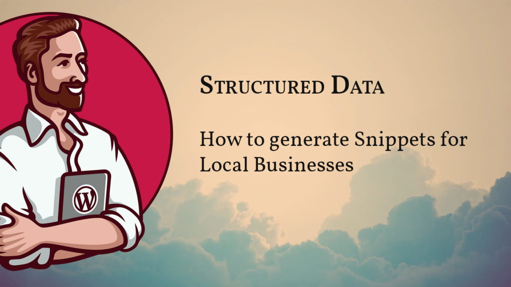 How to generate Structured Dat for a Local Business