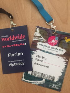 Envato WorldWide and WordCamp Europe conference tickets.