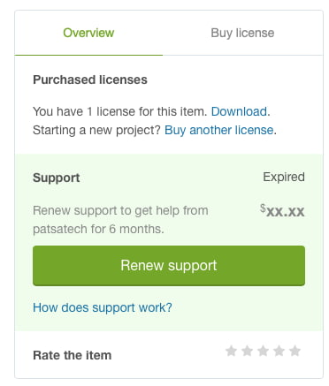 Metabox on CodeCanyon that allows you to renew support.