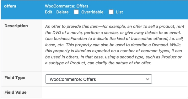 WooCommerce: offers field type