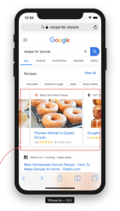 A carousel (ListItem) schema example on Google search results.