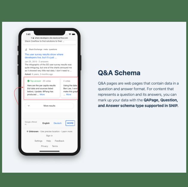 Q&A Schema example