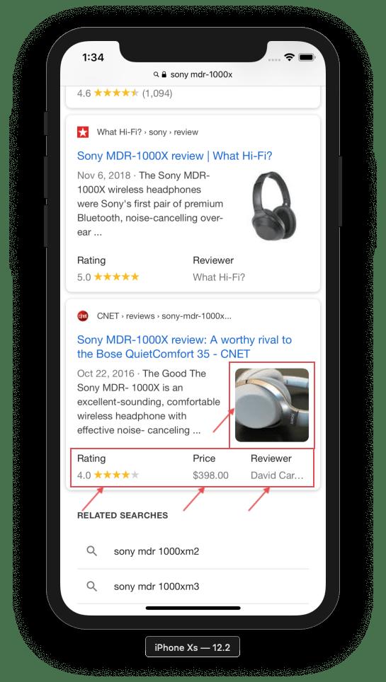 Reviews werden in Suchmaschinen größer dargestellt.